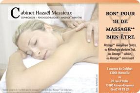 Découvrez les bons cadeaux massage* bien-être du cabinet Hazaël-Massieux