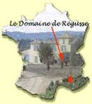 situation domaine de regusse en france : 10 km de Manosque