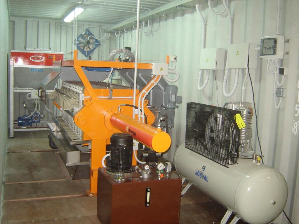Déshidratation des boues, solution en conteneur, LOREVI