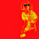 Anna Wintour in Prada, illustration by Martine Brand