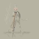 Baby Dior, illustration by Martine Brand