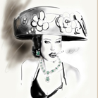 Cartier, illustration by Martine Brand