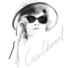 Coco Chanel, illustration by Martine Brand