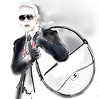 Karl Lagerfeld, illustration by Martine Brand