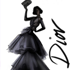 Dior, illustration by Martine Brand