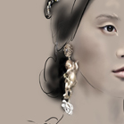 Dolce and Gabbana, illustration by Martine Brand