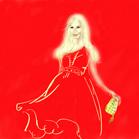 Donatella Versace, illustration by Martine Brand