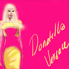 Donatella Versace, illustration by Martine Brand