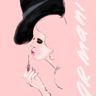 Giorgio Armani, illustration by Martine Brand