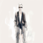 Gucci, illustration by Martine BrandFendi, illustration by Martine Brand