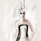 Gucci, illustration by Martine BrandFendi, illustration by Martine Brand
