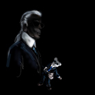 Karl Lagerfeld, illustration by Martine Brand
