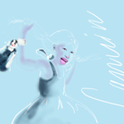 Lanvin, illustration by Martine Brand
