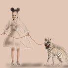 Lanvin, illustration by Martine Brand