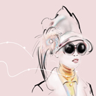 Louis Vuitton, illustration by Martine Brand