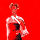 Madonna for Jean-Paul-Gaultier, illustration by Martine Brand