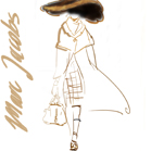 Marc Jacobs, illustration by Martine Brand