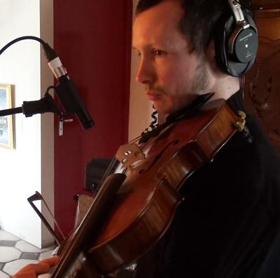 """Jonathan Dour, violon (Enregistrement des albums """"La Barque ailée et l'Albatros"""")"""