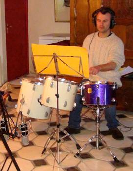 """Gurvan Mével, percussions (Enregistrement des albums """"La Barque ailée et l'Albatros"""")"""
