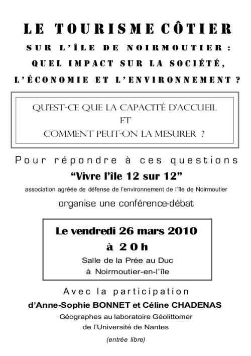 Conférence débat sur la capacité d'accueil