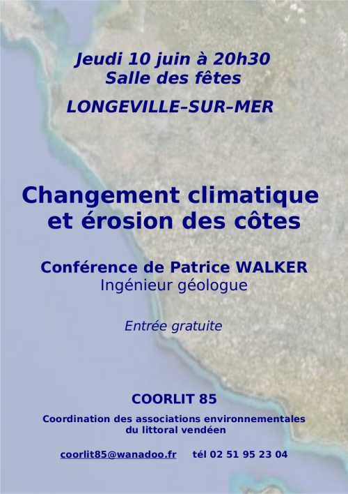 Conférence sur le changement climatique et l'érosion des côtes