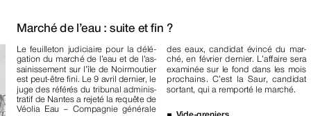 Ouest France, 16 avril 2010