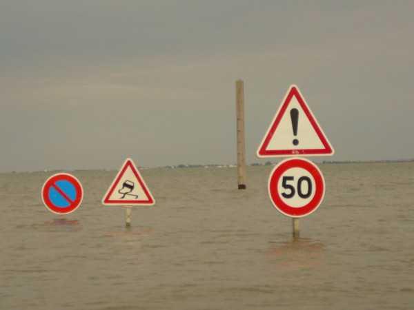Le Gois à marée haute