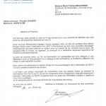 Lettre de la Communauté de communes du 14 mars 2011