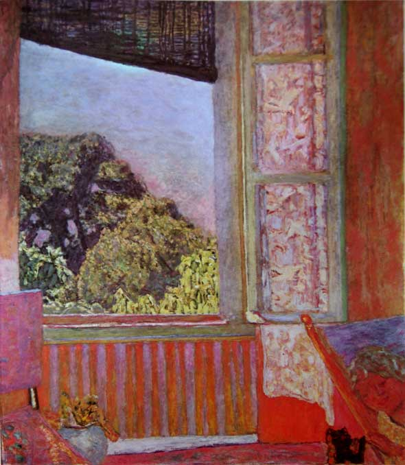 Pierre Bonnard, La Fenêtre ouverte, huile sur toile, 1921, The Phillips Collection, Washington. Dans 'Bonnard' catalogue de l'exposition du Centre Georges Pompidou, Paris, 1984, p. 83.
